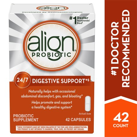 Align Probiotics, Probiotic Supplement for Daily Digestive Health, 42 capsules, #1 Recommended Probiotic by Gastroenterologists