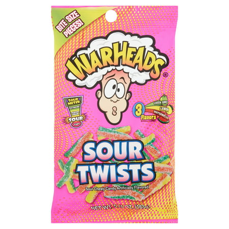 (6 Pack) Warheads, Sour Twists Candy, 5.75 Oz