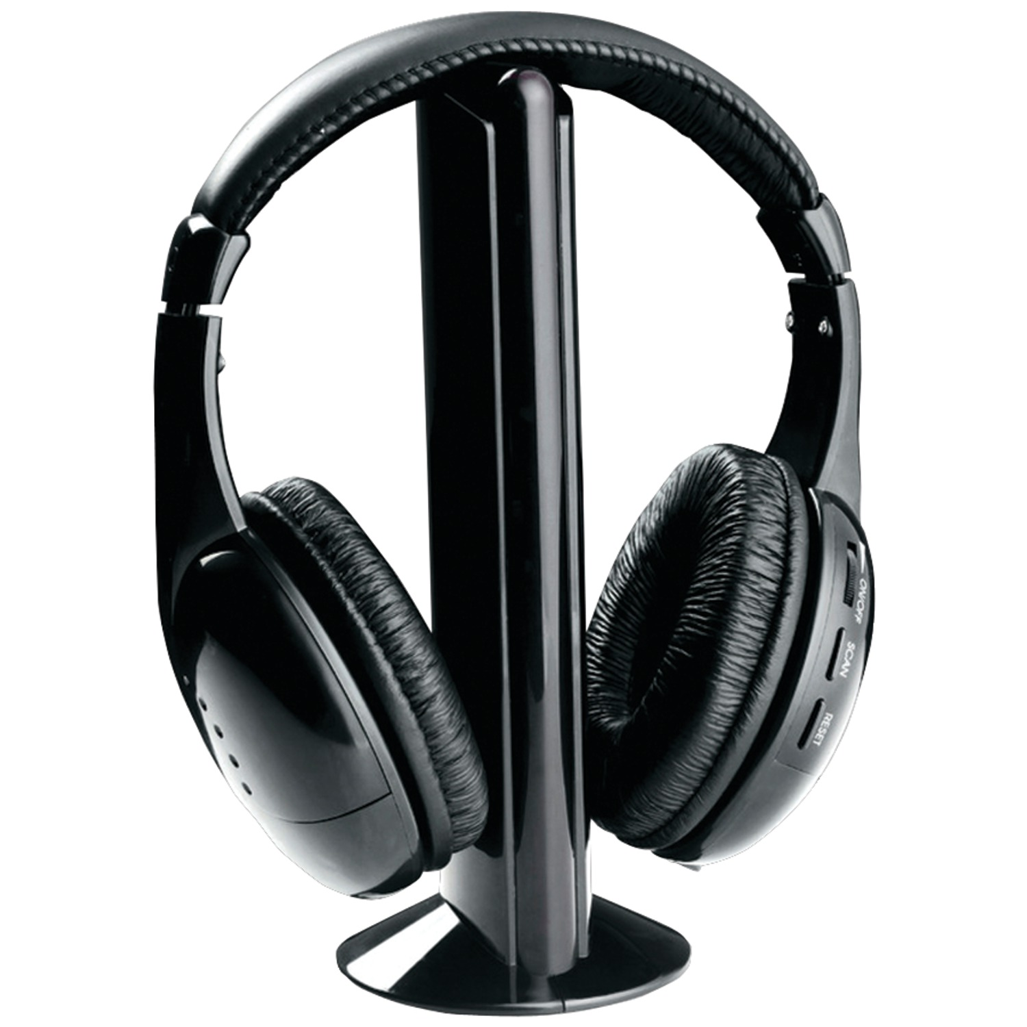 Naxa NE922A Professional 5-in-1 Wireless Headphones with Microphone & FM Radio