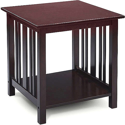 MissionStyle End Table Multiple Finishes Walmartcom