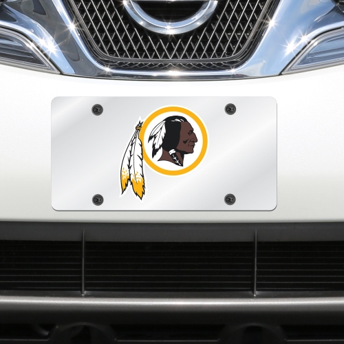 Washington Redskins Mirror License Plate With Laser Cut Acrylic Logo - No Size