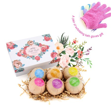 1 Set Bath Bombs Gift Set Ultra Lush Huge Bath Bombs Kit, Aromatherapy, Relaxation, Moisturizing with Organic & Natural Essential Oils
