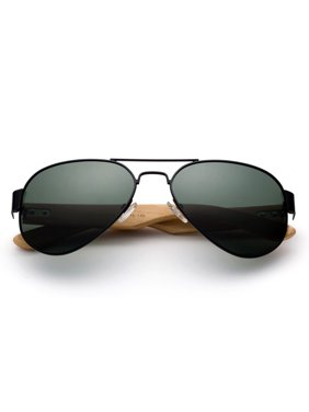 4fe3bfa11d6 Product Image High Qaulity Polarized Sunglasses with Real Bamboo Arm Aviator  Sunglasses Bamboo Sunglasses for Men   Women