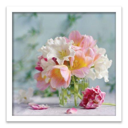 20x20 Framed Floral Walmart
