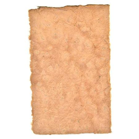 Lokta Handmade Art Paper terra cotta, 5 in. x 8 in., sheet (pack of