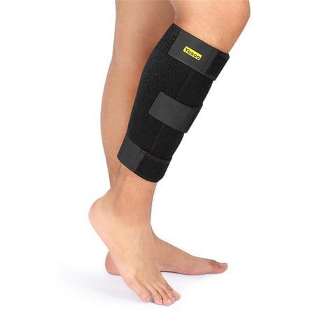1 Pcs Qiilu Calf Compression Brace Adjustable Shin Splint Compression Sleeve Support Lower Leg Wrap for Leg Pain Support Sore Muscles &