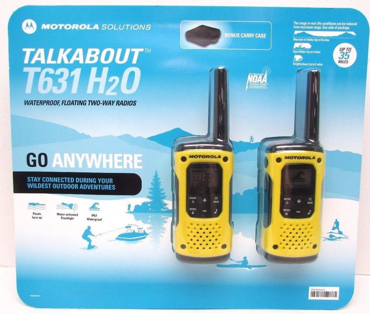 Motorola T631 Talkabout H2O Walkie Talkie Two Way Radio Waterproof ...