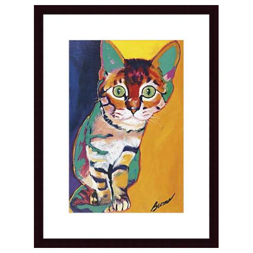 Printfinders Tiger by Ron Burns Framed Painting Print
