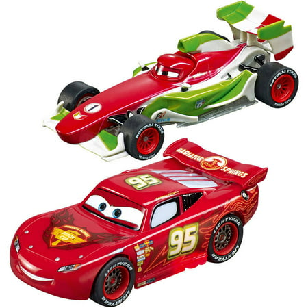 Carrera Disney Cars Racing System, Lightning McQueen vs Francesco Bernoulli (Sonnenbrillen Carrera Männer)