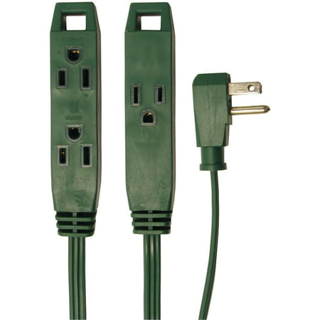 Axis 45511 3-Outlet Indoor Extension Cord, 8Ft (Green) - Green Indoor Extension Cord