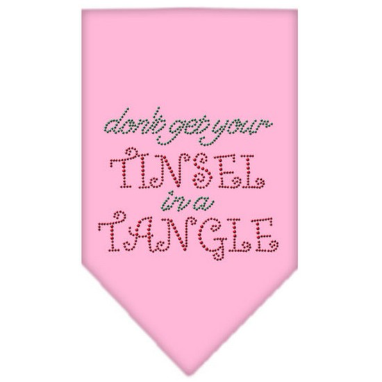 Mirage 67-93 SMLPK Tinsel in A Tangle Rhinestone Pet Bandana Light Pink Small