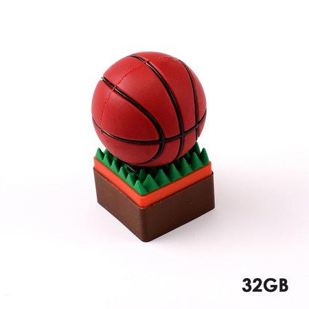 Sport Basketball Shape USB Flash Drive USB 2.0 Flash Disk 4GB 8GB 16GB 32GB Pen Drive Memory Flash Card U Disk