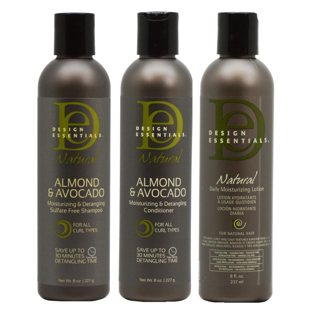 Design Essentials Natural Almond Avocado Shampooconditionerleave