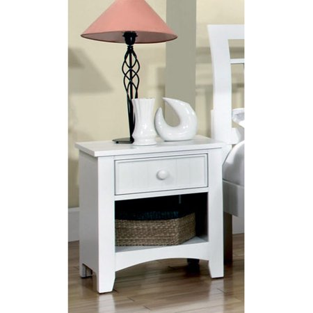 Furniture of America Yazstrema Cottage Style 1 Drawer Nightstand