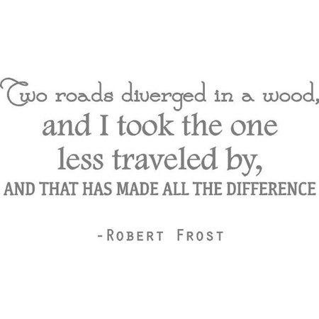 """Robert Frost Vinyl Wall Decal 