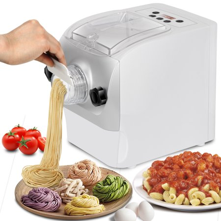 Zeny Automatic Pasta Maker Machine 260W Plastic Mixing Kneading and Extruding Electric Noodle Maker Machine 8 Shaping Discs 1 Pound