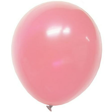 Exquisite 100 ct 12 Inch Latex Balloons - Bulk 100 Pack - Colorful Birthday Party Balloons - Pink