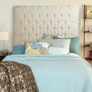 Mozaic Company Humble + Haute Halifax Ivory Linen Tall Queen Diamond Tufted Upholstered Headboard