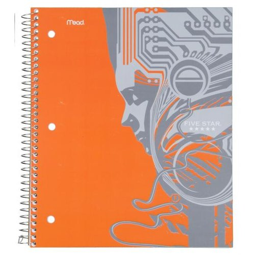 Mead Products 08096 8-1/2in X 11in College Ruled 1 Subject Notebook Assorted Desig