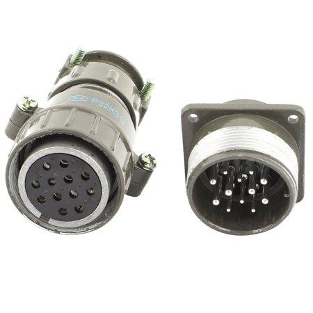 P32K3Q Metal Shielded 12Pin Aviation Plug Male Female Connector  660V 20A