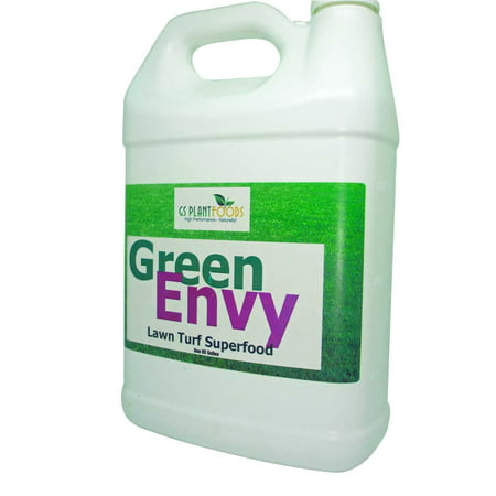 Green Envy - Lawn Turf Organic Grass Fertilizer Superfood, Works for Starter Lawns Winter / Early Spring for Outdoor Garden Super Food for Grass - 1 Gallon of Concentrate