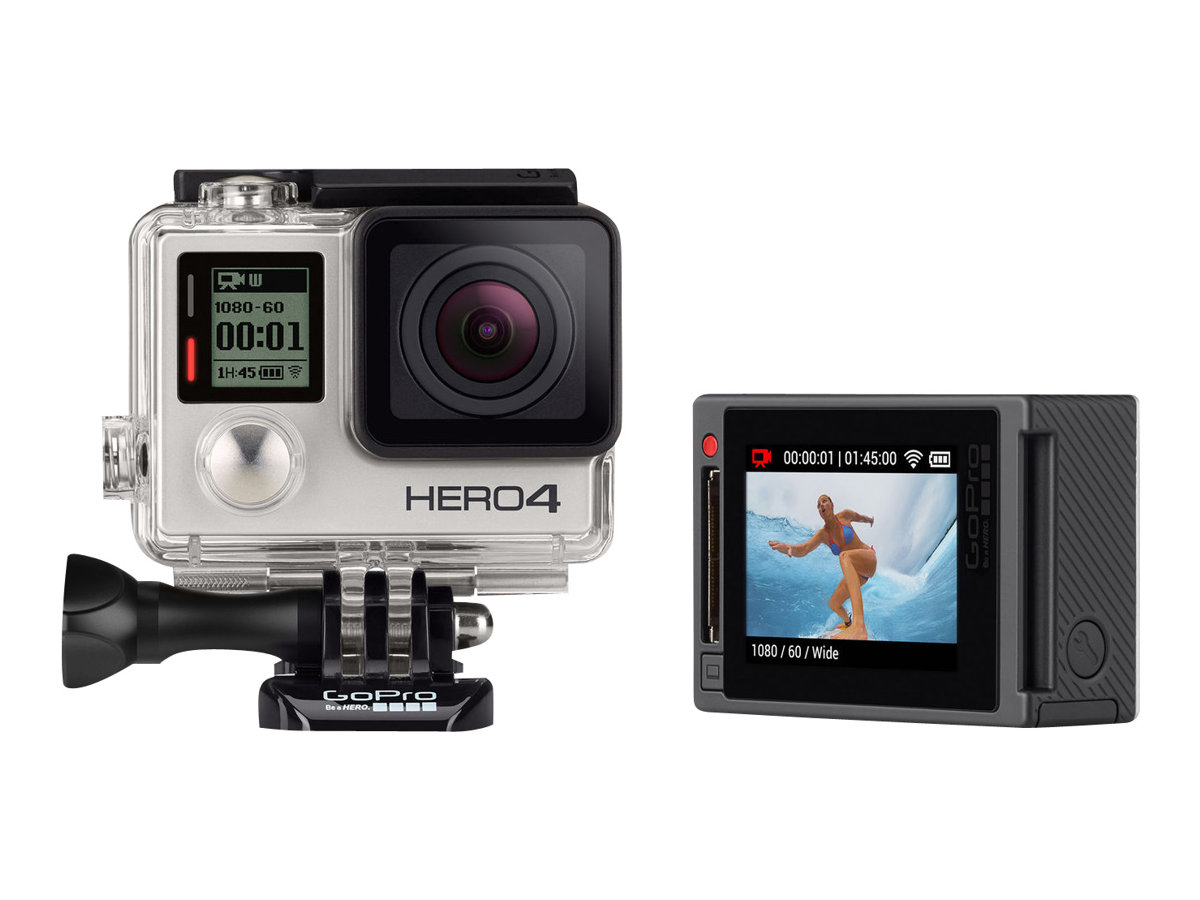Gopro Hero4 Silver Edition Action Camera Mountable 1080p 12 0 Mp Wi Fi Bluetooth Underwater Up To 131 2 Ft Walmart Com Walmart Com