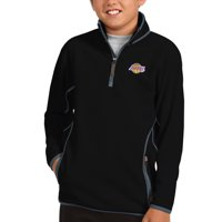 Los Angeles Lakers Antigua Youth Ice Quarter-Zip Pullover Jacket - Black