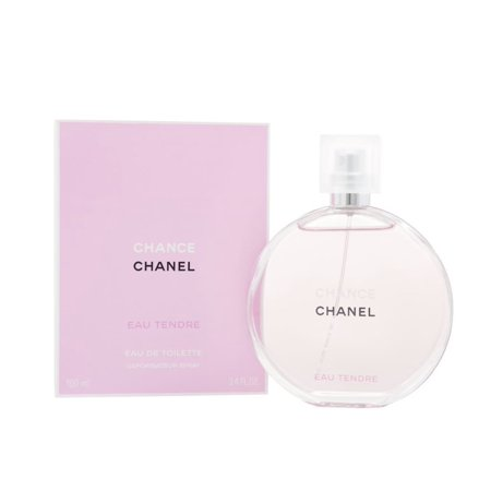 CHANCE EAU TENDRE by Chanel for Women EAU DE TOILETTE SPRAY 3.4 OZ - Chanel Bottle
