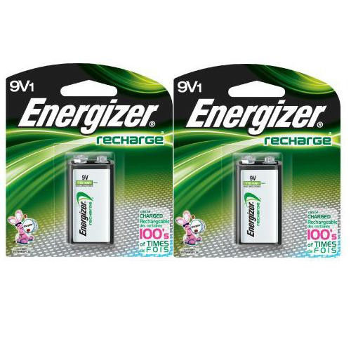 2 Pack Energizer 9V Rechargeable Battery NH22NBP NiMH 8.4V- 175mAh,