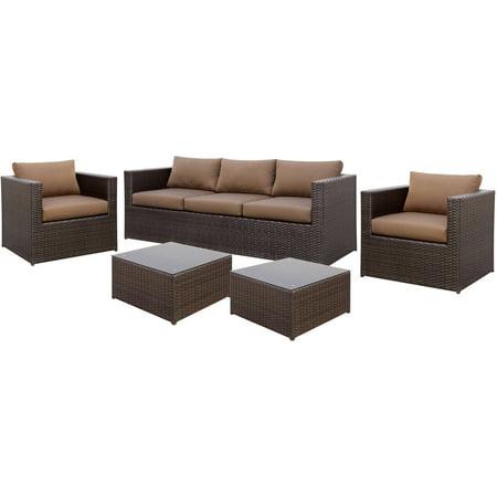 Furniture of America Eastman 5-Piece Patio Set, Beige