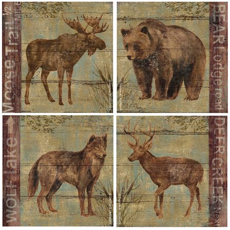 Thirstystone Occasions Drink Coasters, Set, Northern Wildlife A/four