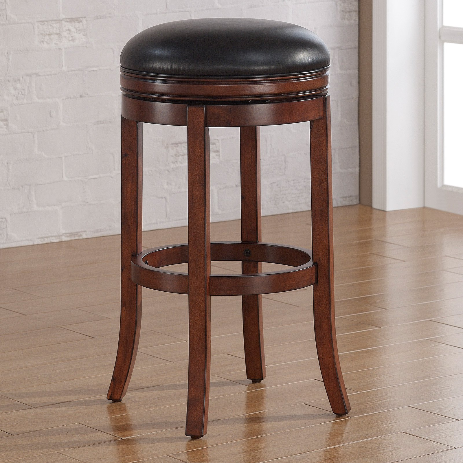American Woodcrafters Stella Backless Counter Stool - Medium Walnut