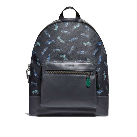 4a4ea76fed Coach - NEW MEN S COACH (F31269) WEST ALLOVER CARS LOGO PRINT NAVY BLUE  BACKPACK BAG - Walmart.com