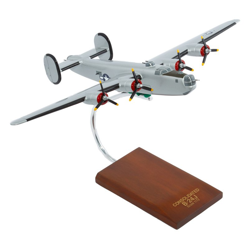 Mastercraft Collection Consolidated B-24J Liberator (Silver) Model Scale:1/72