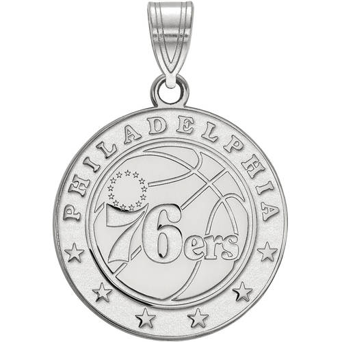 LogoArt NBA Philadelphia 76ers 14kt White Gold Large Pendant
