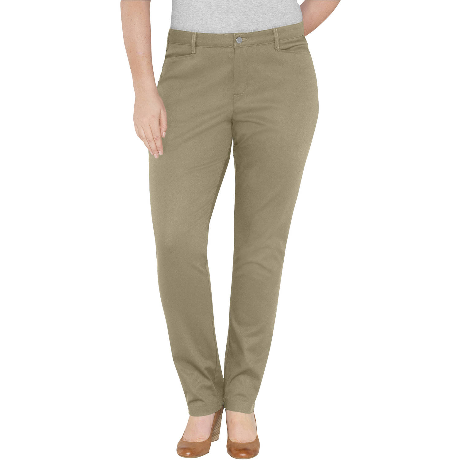 Genuine Dickies Women's Plus-Size Classic Tapered Pants