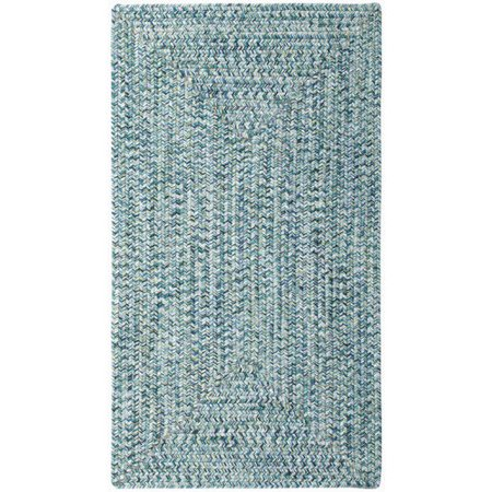 Capel Rugs Sea Pottery Indoor Outdoor Braided Rug Blue