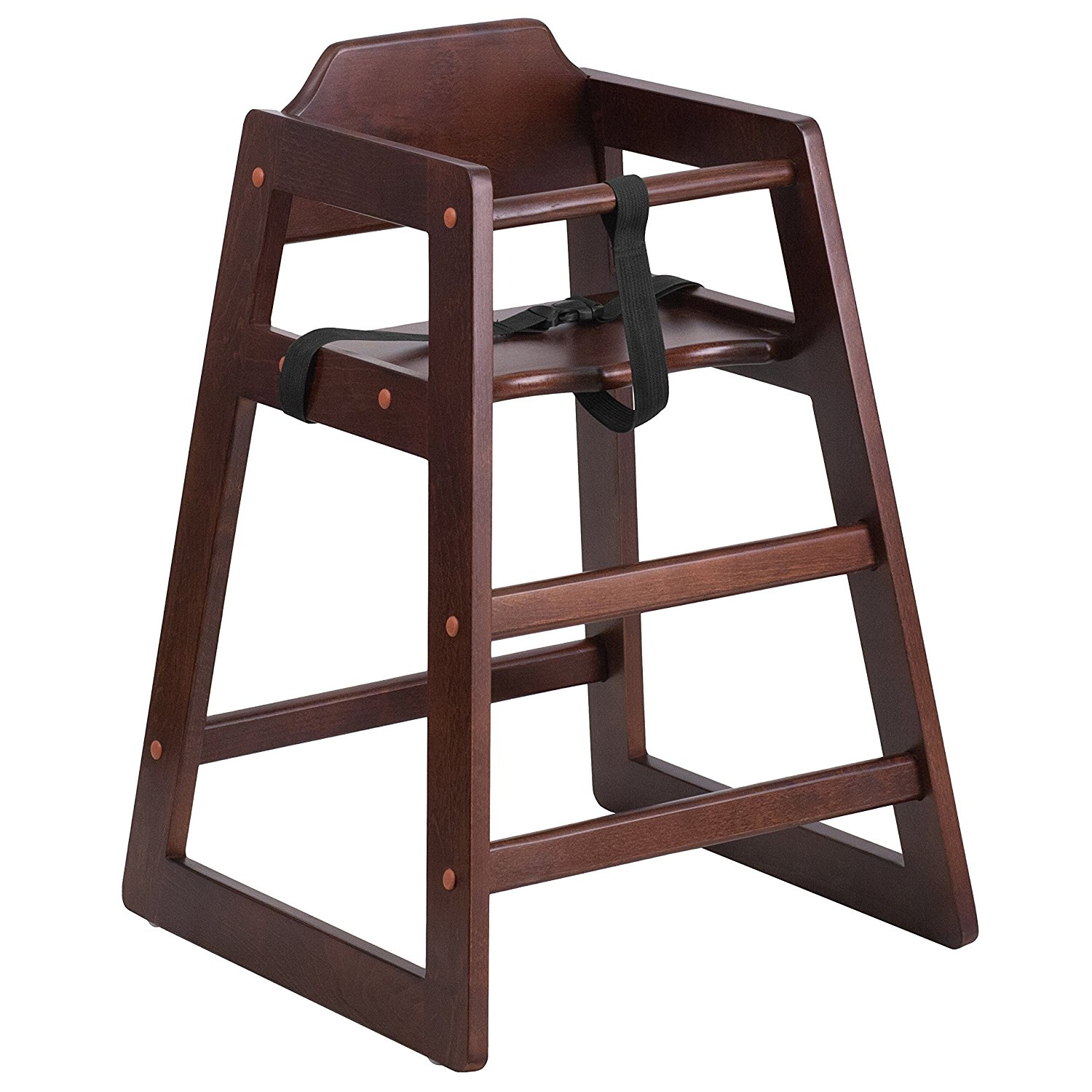 HERCULES Series Stackable Walnut Baby High Chair