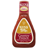 Ken's Steakhouse Dressing, Country French with Orange Blossom Honey, 16 Fl Oz