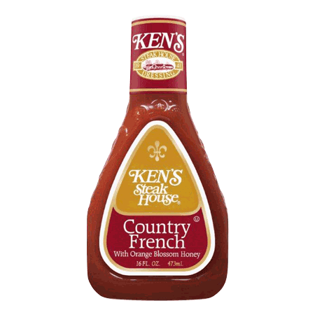 (3 Pack) Ken's Steakhouse Dressing, Country French with Orange Blossom Honey, 16 Fl
