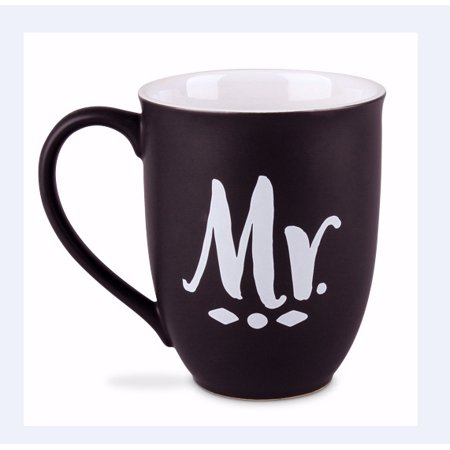 Ceramic Mugs-Two Pack-Handwritten-Mr. & Mrs. (#18150)
