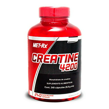 Creatine 4200 Muscle Strength Gains 240 capsules by MET-Rx - (Met Rx Creatine 4200 Diet Supplement Capsules)