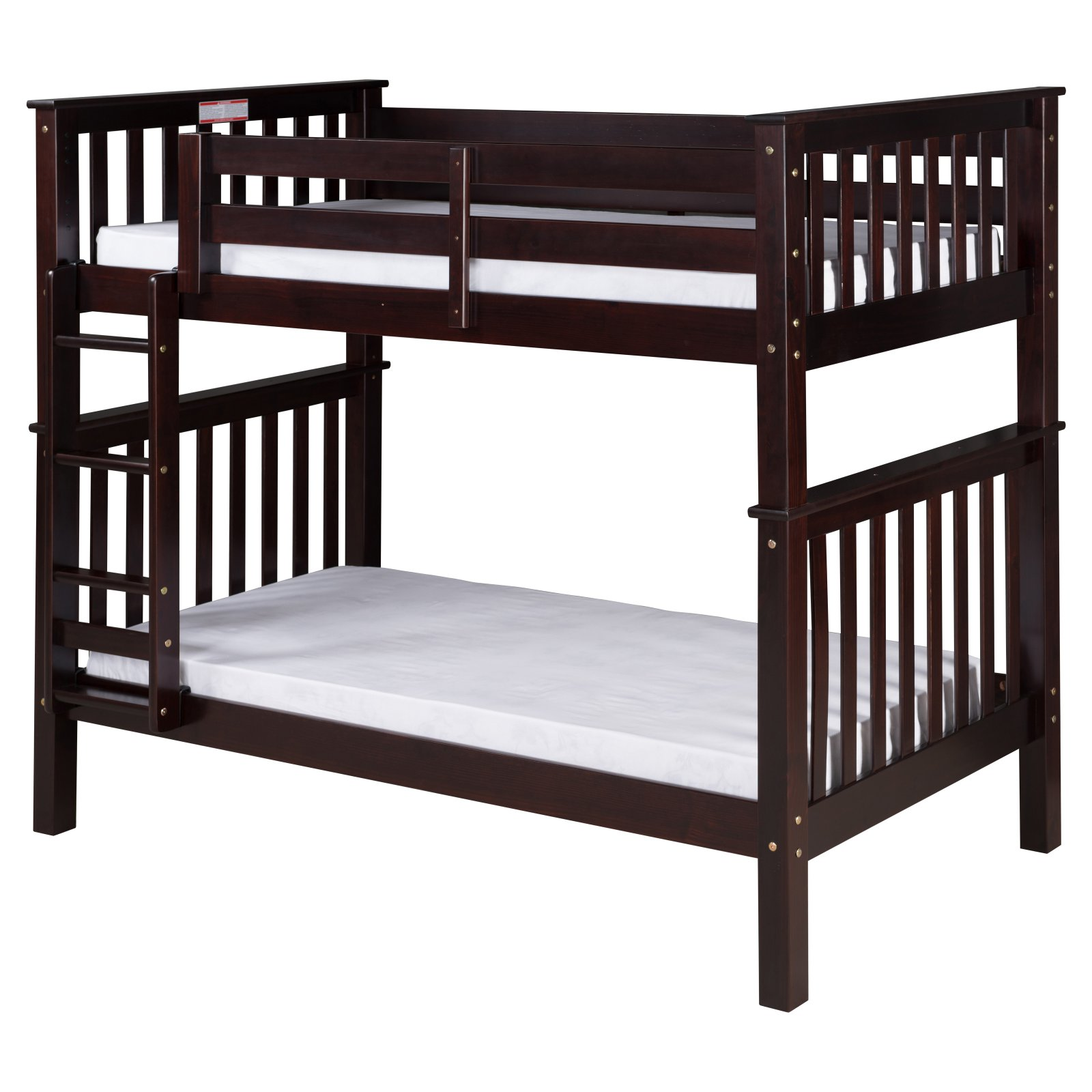 Santa Fe Mission Tall Bunk Bed Twin over Twin - Attached Ladder - Multiple Finishes