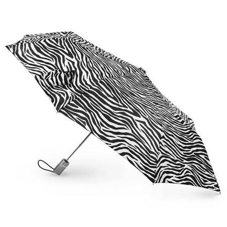 Zebra Animal Print Tote - Totes Classics 3 Section Automatic 43