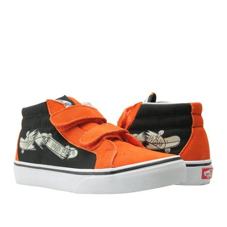 Vans Sk8-Mid Reissue V Flame/Black Mid Top Little/Big Kids Sneakers VN0A346YQ8B - Unusual Vans Shoes