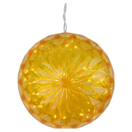 Northlight 6 in. LED Hanging Christmas Crystal Sphere Ball