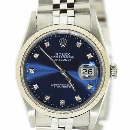 Pre-Owned Rolex Datejust 16234 Steel Women Watch (Certified Authentic & Warranty)