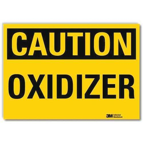 LYLE U4-1581-RD_7X5 Safety Sign,Oxidizer,Black/Yellow,5 in H G2278580