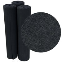 "Rubber-Cal ""Tuff-n-Lastic"" Rubber Runner Mat - 1/8 in x 48 in x 4 ft Rolled Rubber Flooring - Black"
