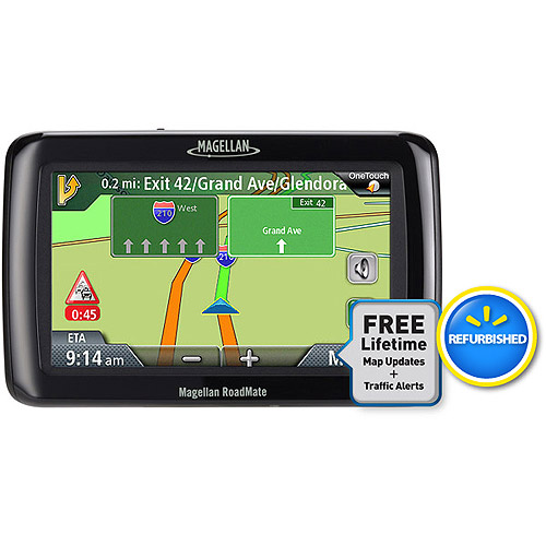 """Magellan Refurbished RoadMate 2036T-LM 4.3"""" Portable GPS With Lifetime Map and Traffic Updates"""